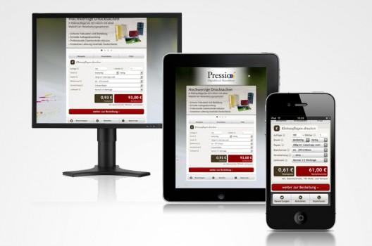Online Druckerei via Smartphone, Tablet oder Arbeitsplatzrechner