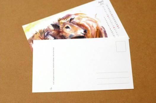 Postkarten Kalenderblätter